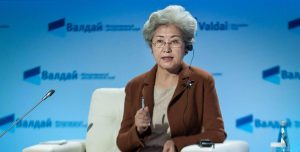 Madame Fu Ying addressing the Valdai Discussion Club on October 25, 2016